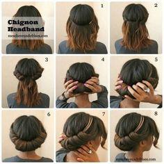 gunakan headband untuk rambut sebahumu