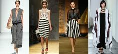 Spring 2014 Trend: Monochrome Stripes Hang onto your monochrome striped pieces. They will still be hot next spring/summer.
