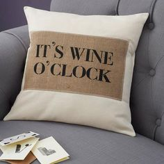 drink o'clock cushion