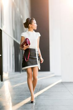 More ideas for the office - loving this shoulder shape with the slightly stand up collar!