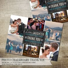 Collage Thank You Photo Card Photo thank you card by OddLotPaperie