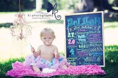 First Birthday Photo Shoot Ideas | on her 1st Birthday! K's Photography is the best! First birthday photo ...