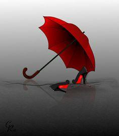 Red Umbrella Kommt gut durch den Regen!!!