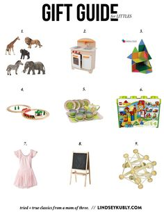 choose simple toys that will last. this list from a mama of three is full of smart choices for your littles!