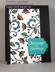 One of three Heartfelt Inkspiration cards in the Stamp Review Crew blog hop featuring Flourishing Phrases.  If you like random background stamping, click for more details!