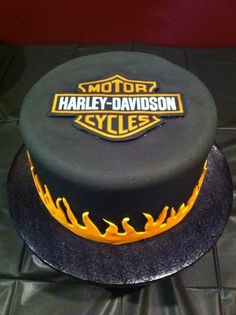 Harley Davidson Cake - for a 50th birthday party.