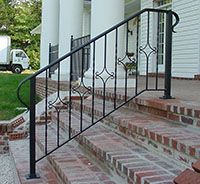 wrought iron hand rail colonial - Google Search