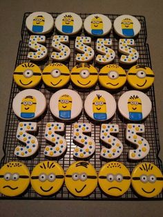 Minion cookies that I made for the party.