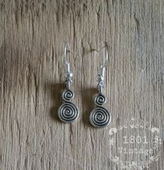 Celtic Spiral Earrings, Irish Earrings, Celtic Earrings, Ireland, Spiral Earrings, Double Spiral Celtic Spiral, Belly Button Rings, Ireland, Irish, Drop Earrings, Unique Jewelry, Handmade Gifts, Etsy, Kid Craft Gifts