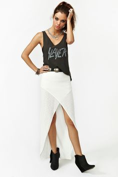 MinkPink Wrapped Maxi Skirt