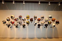 motorcycle helmet display wall - Google Search