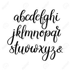 Handwritten Brush Letters Abc Modern Calligraphy Hand Lettering Vector Alphabet Stock Vector Art & More Images of Alphabet 646720958 Modern Calligraphy Alphabet, Caligraphy Alphabet, Handwriting Alphabet, Hand Lettering Alphabet, Alphabet Fonts, Font Styles Handwriting, Lettering Styles Alphabet, Modern Caligraphy, Doodle Alphabet