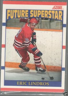 Items similar to Eric Lindros Rookie Hockey Trading Cards, 8 different, near mint on Etsy Espn Baseball, New York Yankees Baseball, Baseball Socks, Hockey Cards, Baseball Cards, Baseball Score Keeping, Eric Lindros, Quebec Nordiques, Player Card