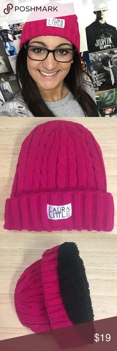 Laura Little Curated Beanie This beanie is perfect for the winter weather! The fuzzy inside will keep you warm in the cold weather! Accessories Hats