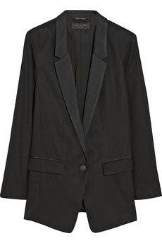 Rag & bone Ines oversized wool blazer   NET-A-PORTER