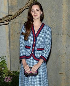 """Lana at Gucci's """"In Bloom"""" campaign party at the MoMa PS1 in Long Island City, New York 02/05/17"""