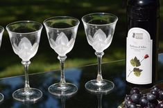 Holding these glasses and admiring them, there are no words to describe! This set of vintage wine glasses are so pretty.  These glasses have beautiful satin petals on the bowl and a fluted stem. Fabulous wine glasses! Small Wine Glasses, Vintage Wine Glasses, Crystal Wine Glasses, Cut Glass, Unique Vintage, Bowl Set, Satin, Crystals, Pretty