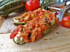 zucchine ripiene filanti-ricetta veloce