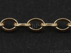 14k Gold Filled Cable Chain Lightweight Tiny by Beadspoint on Etsy, $5.99