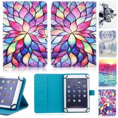 "HOT Universal Beauty Print PU Leather Cover Case For Various 7""-7.9"" Tablets PC"