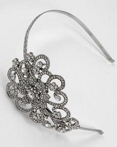 bridal hair piece, bride hair jewelry, bride hairband, bride headband