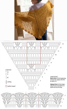 Best 12 The Awana shawl is light and airy, a perfect accessory for a summer night out. The crochet pattern is very detailed with lots of step-by-step pictures. Poncho Crochet, Crochet Shawl Diagram, Crochet Shawls And Wraps, Crochet Chart, Crochet Scarves, Crochet Clothes, Crochet Lace, Crochet Stitches, Shawl Patterns