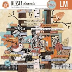 Russet elements by Lynne-Marie