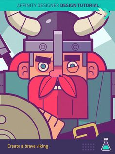 "Affinity Designer Tutorial ""Create a Brave Viking""  ℅ Frankentoon.com"