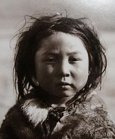Greenland - Inuit child, possibly photographed by Edward Curtis