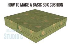 An easy DIY tutorial on how to make a basic box cushion for furniture | Designs by Studio C