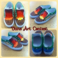 Vans art contest with my girl Heaven! Theme: local flavor. She did the sunset (my fav part) and the maps. I did the cactus, flower, and turquoise (AZ state rock.) Had fun doing it but so glad it's over