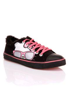 9e6fb1b64acdc0 Hello Kitty Iris Low Top Sneaker In Black - Beyond the Rack