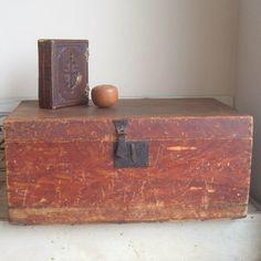 antique handmade trunk by ImSoVintage on Etsy, $85.00
