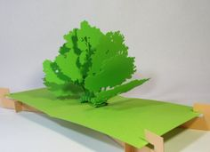 Little collection with 8 trees, pop-up card, home made