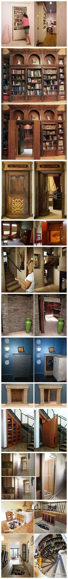 trendy Ideas for secret door design future house Hidden Spaces, Hidden Rooms, Hidden House, Future House, My House, Door Design, House Design, Entrance Design, Casa Loft