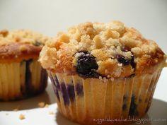 Blaubeer-Zimt-Muffins mit Streuseln