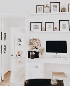 Attic office, office nook, home office space, home office decor, unique home Decor, Built In Desk, Home Office Decor, Interior, Home, Apartment Decor, Office Interior Design, Interior Design, Diy Small Apartment