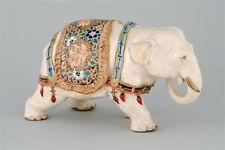 SATSUMA POTTERY SCULPTURE In the Form of a Caparisoned Elephant. Elephant Figurines, Pottery Sculpture, Elephant Love, Porcelain Ceramics, Bellisima, Elephants, Ebay, Decor, Animales