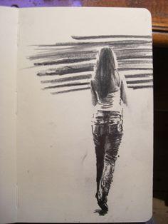 Moleskine J #033 graphite pencil drawing