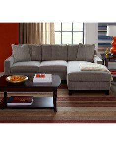 In the nightmare scenario where we must buy a new couch - this comes in two pieces and will be on sale for $720. Clarke Fabric Sectional Sofa Living Room Furniture Sets & Pieces - furniture - Macy's