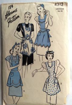 fabulous vintage apron in different styles.