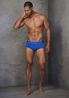 48H GO™ Brief Daily Wear, Feel Better, Trunks, Fitness, Swimwear, Cotton, How To Wear, Blue, Design