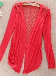 Casual Hollow Slim Lace Spring Season Cardigan