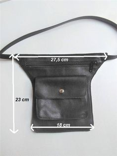 Fanny Pack Pattern - Sewing Pattern to Make This Cute Belt Bag Leather, Leather PDF Leather Bum Bags, Leather Bags Handmade, Leather Wallet, Fanny Pack Pattern, Sewing Lessons, Tote Backpack, Hip Bag, Leather Necklace, Leather Accessories