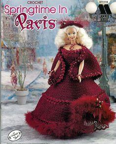 Primavera en París moda muñeca ganchillo patrón Annies Attic