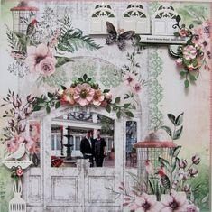 New Orleans - Royal Sonesta Hotel Patio - Mintay paper Vacation Scrapbook, Wedding Scrapbook, Scrapbook Albums, Scrapbooking Layouts, Layout Inspiration, Art Journal Inspiration, Honey Bee Stamps, Image Layout, New Hobbies