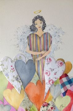 Angel original watercolor di ARTEDORI su Etsy https://www.etsy.com/it/listing/224899210/angel-original-watercolor