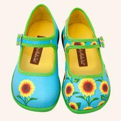 Girls Sunflower Shoes HotChocolateDesign.com