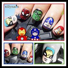Super hero nails nails-nails-nails