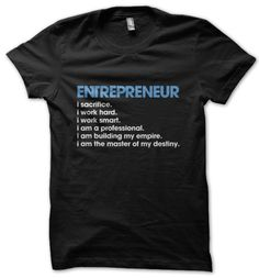 I am proud to be an entrepreneur!